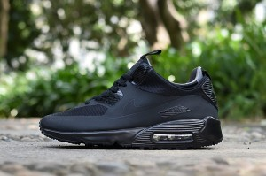 Nike Air Max 90 Mid Sneakerboot / Buty  Czarne - Black